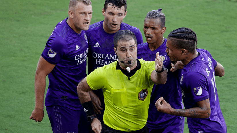 Orlando City - red card - reaction