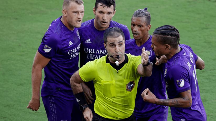 Orlando City - red card - reaction