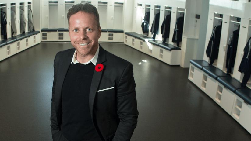 Marc Dos Santos - Vancouver - locker room