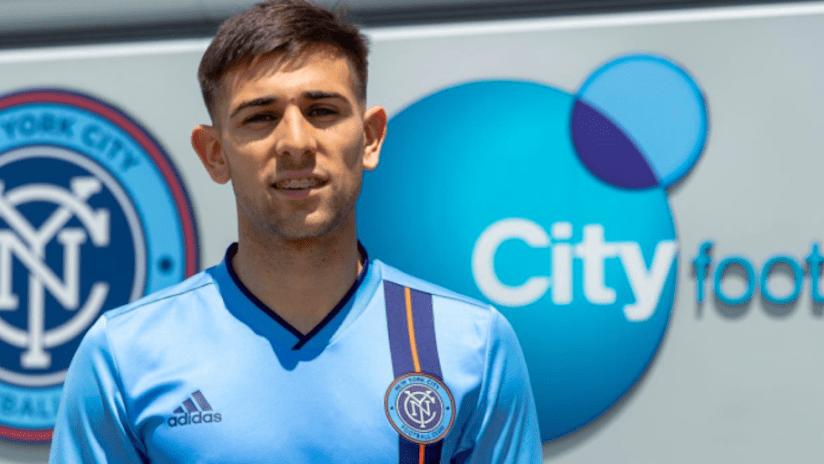 Nicolas Acevedo arrives at NYCFC
