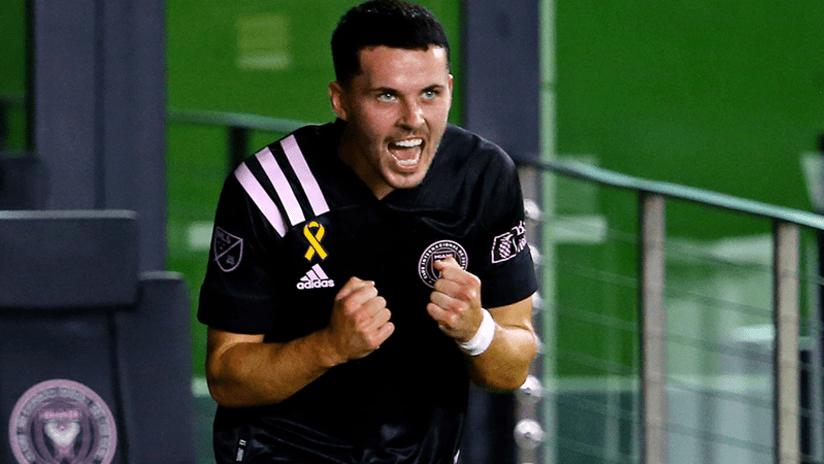 Lewis Morgan celebrates - Inter Miami - September 9, 2020