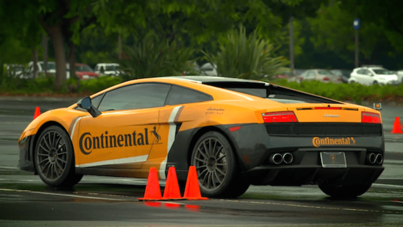 Continental Tire's Lamborghini raced by six MLS players