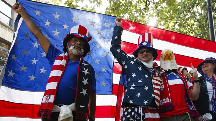 USA fans - Seattle - Copa America