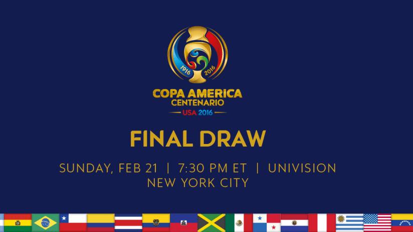 Copa America Centenario Draw logo
