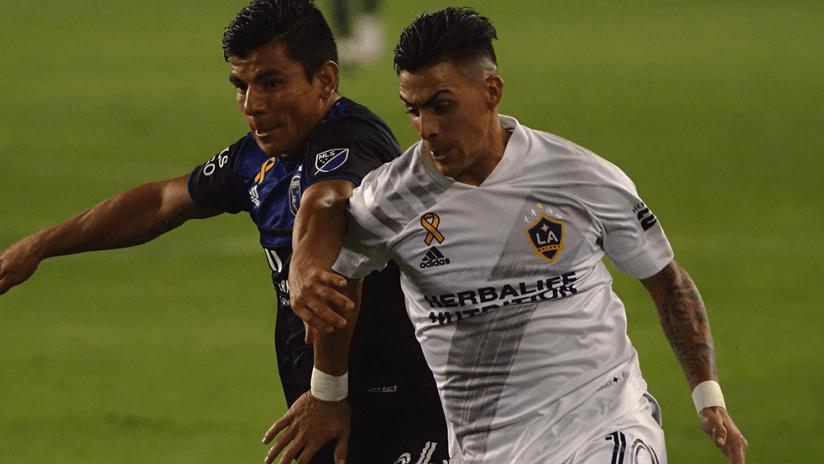 Cristian Pavon, Nick Lima - LA Galaxy, San Jose Earthquakes - Close up