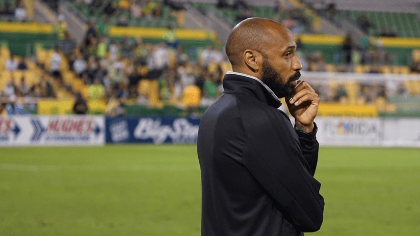 Thierry Henry - Montreal Impact - sideline view