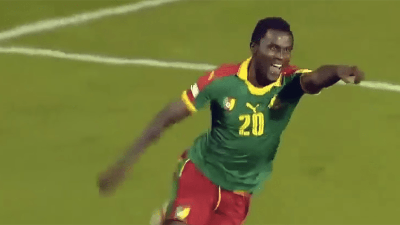 Frantz Pangop - playing for Cameroon