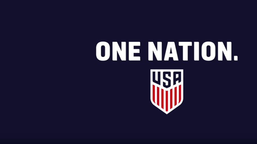 """US Soccer """"One Nation"""" graphic"""