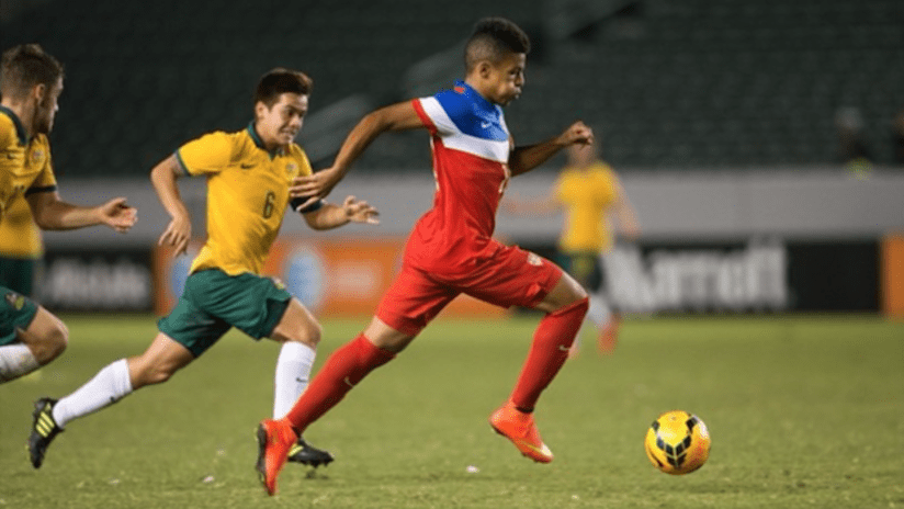 New Columbus Crew signing Romain Gall in action for US