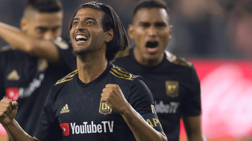 Carlos Vela - LAFC - close up celebrating