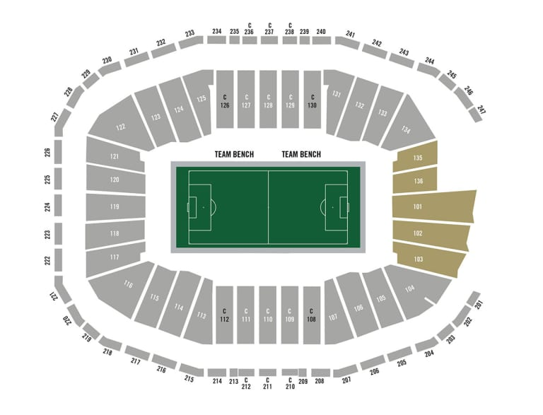 Supporters Groups - Mercedes Benz Stadium Map