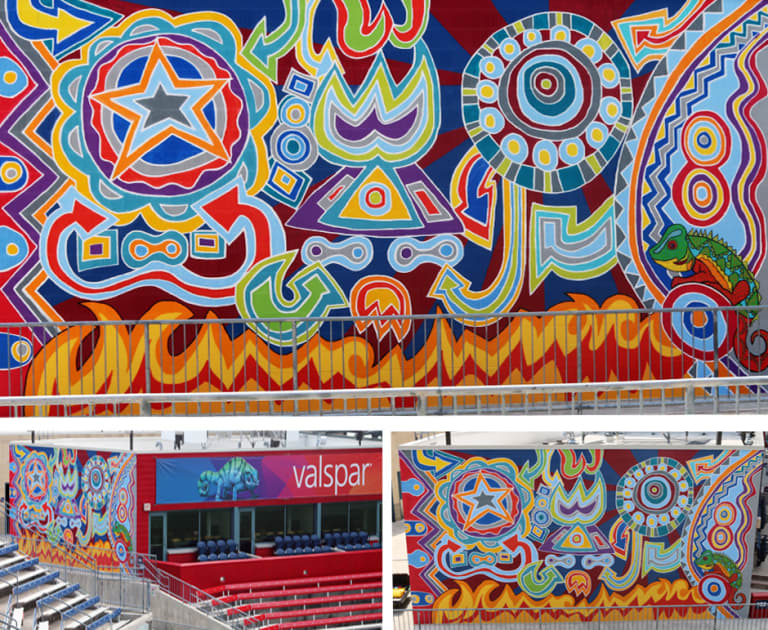 Mural installation brings abstract perspective to Chicago Fire matchday -