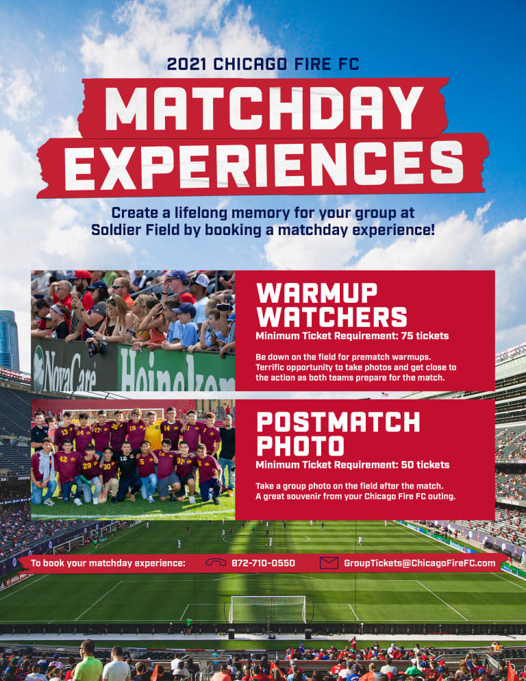 2021 Matchday Experiences Flyer v2