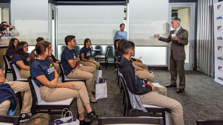 Chicago Fire host SNHU Rompe Las Barreras Job Shadow Program at Toyota Park -