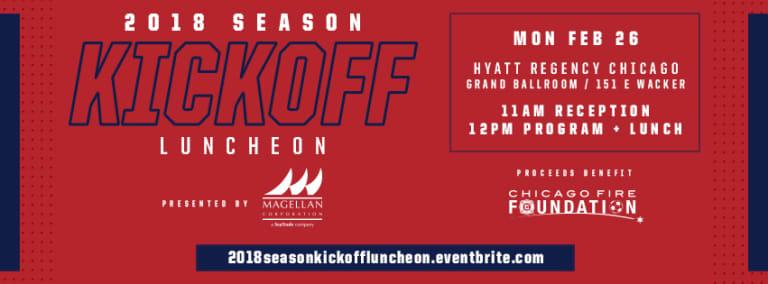 2018 Season Kickoff Luncheon | Tickets on sale now! -