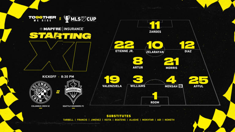 STARTING XI | Columbus Crew SC vs. Seattle Sounders FC | Dec. 12, 2020 -