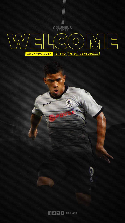 Crew SC adds Venezuelan midfielder Eduardo Sosa -