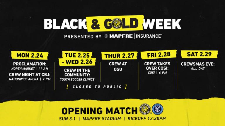 BLACK & GOLD WEEK SCHEDULE | Monday, Feb. 24 -