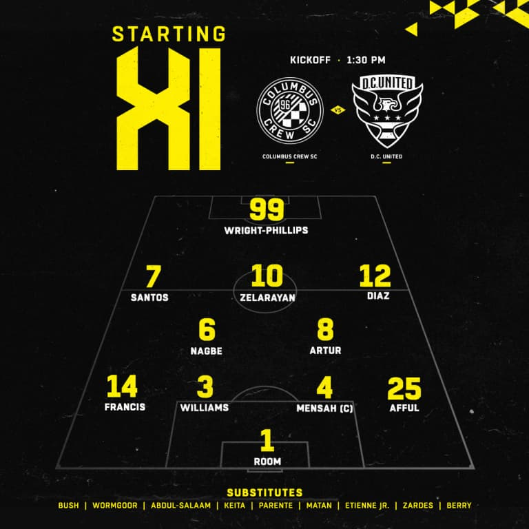 STARTING XI   Today's lineup vs. D.C. United -