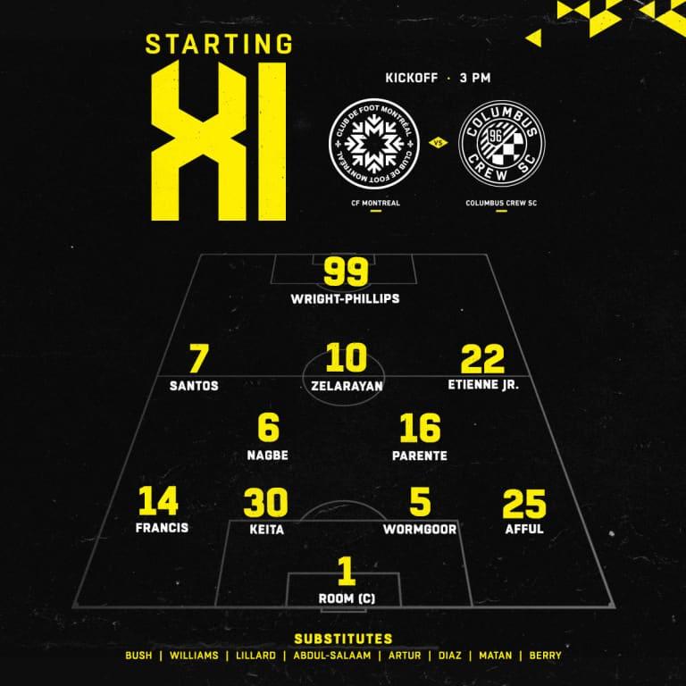 STARTING XI   Today's lineup vs. CF Montreal -