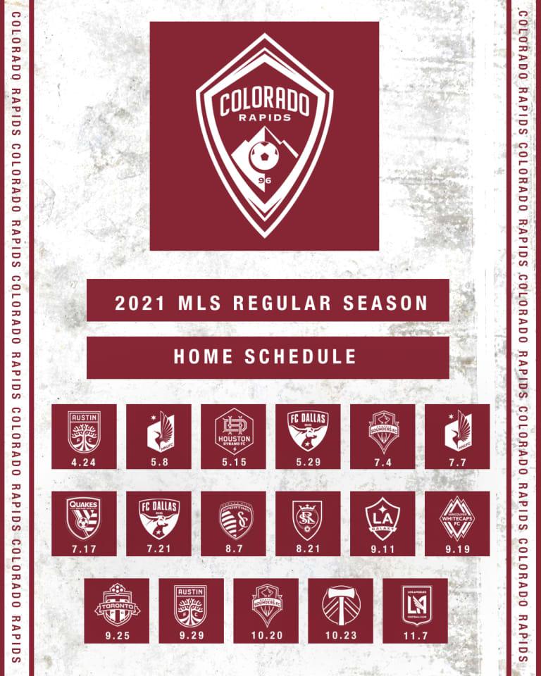 Colorado Rapids Announce 2021 MLS Regular Season Schedule - https://colorado-mp7static.mlsdigital.net/images/2021HomeSchedule_1080x1350.jpg