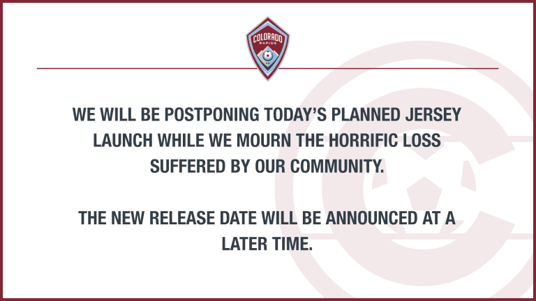 Rapids Postpone Jersey Launch Following Horrific Acts in Boulder -