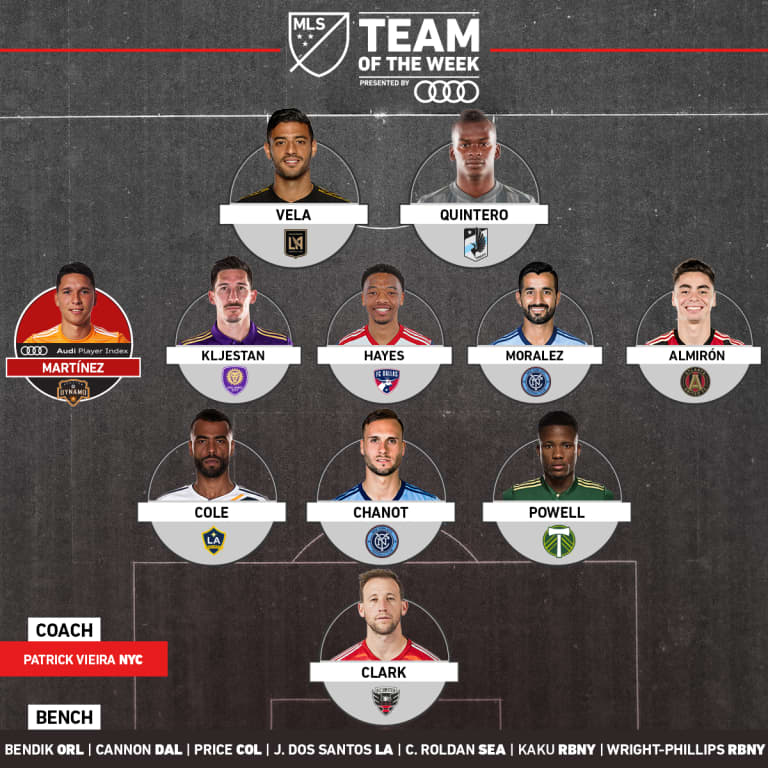 Jacori Hayes Named to MLS Team of the Week for Week 7, Reggie Cannon Recognized on Bench -