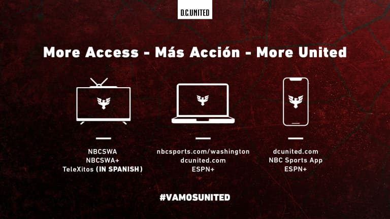 Stream D.C. United Matches - Matchup Graphic