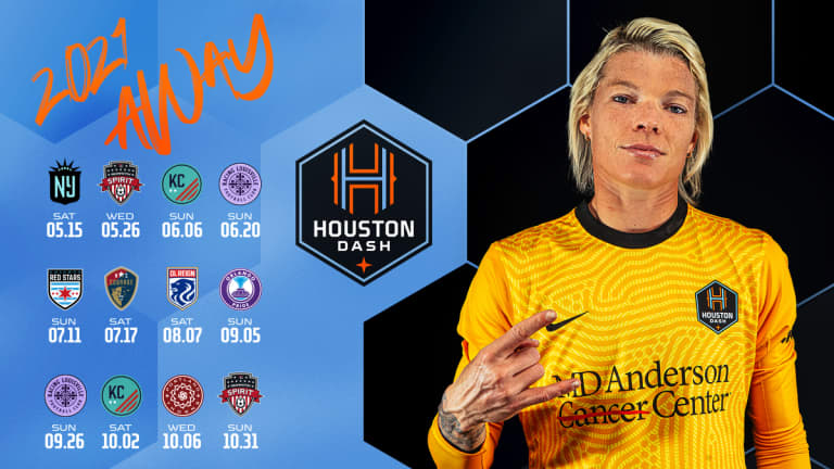 Houston Dash Single Games - Away Schedule