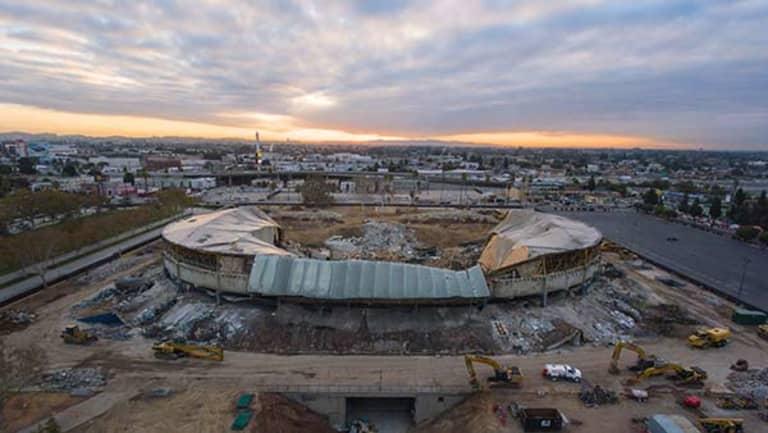 Sports Arena Demolition -