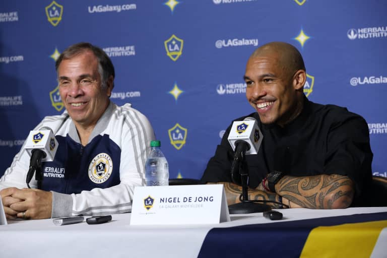 Nigel de Jong's passion for American sports played a big part in his decision to join the LA Galaxy -
