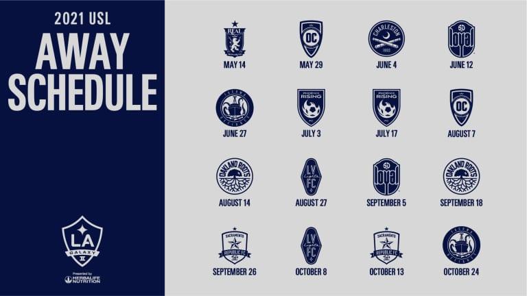 LA Galaxy II announce 2021 USL Championship schedule -