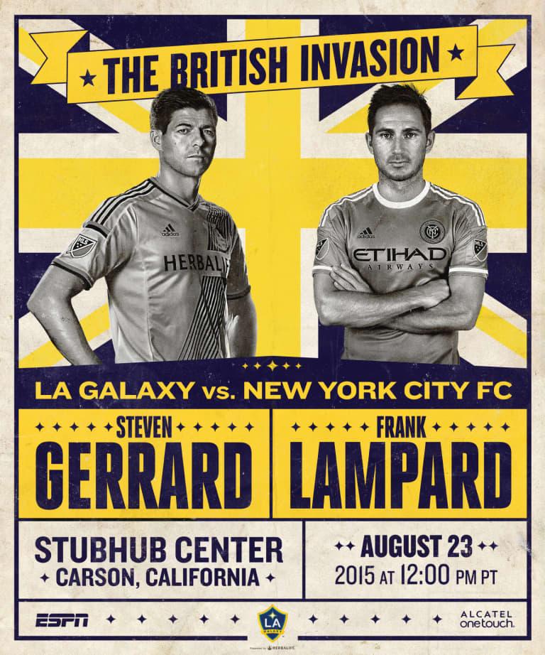 LA Galaxy unveil commemorative match poster for NYCFC match -