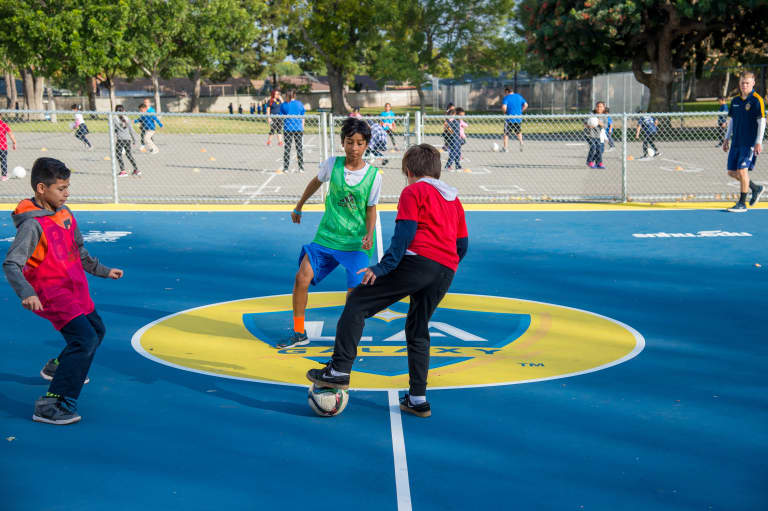 LA Galaxy and SNHU team up to unveil new mini-pitch in Watts -