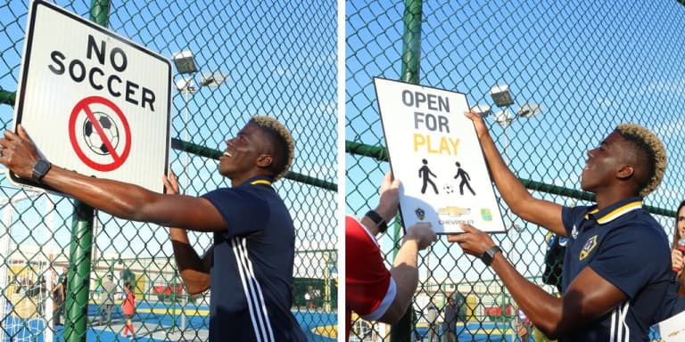 Gyasi Zardes, the LA Galaxy and Chevrolet open new futsal courts in the striker's hometown of Hawthorne -