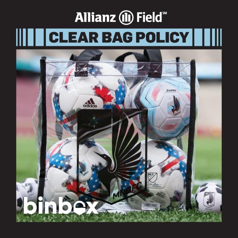 Game Guide: MNUFC vs. New York Red Bulls - CLEAR BAG