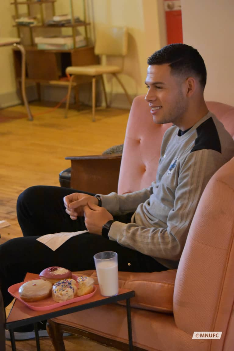 Christian Ramirez Visits Glam Doll Donuts -