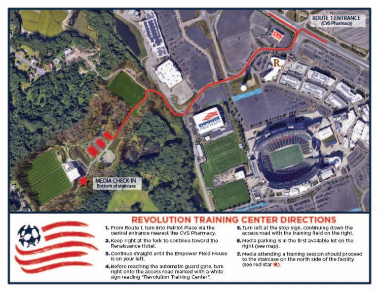 2021_Revolution_Training_Center_Directions