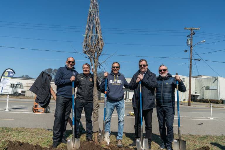 Nashville SC, Atlanta United and MLS Works plant over 100 trees as part of Road to Opening Match Day of Service -