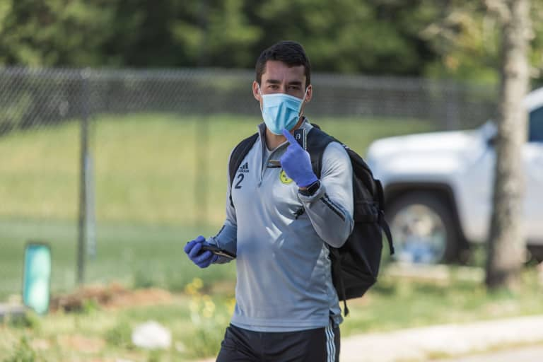 Nashville SC players partake in voluntary individual workouts at Currey Ingram Academy -