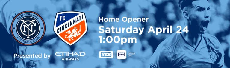 How to Watch & Listen to NYCFC vs. FC Cincinnati - NYCFC Home Opener