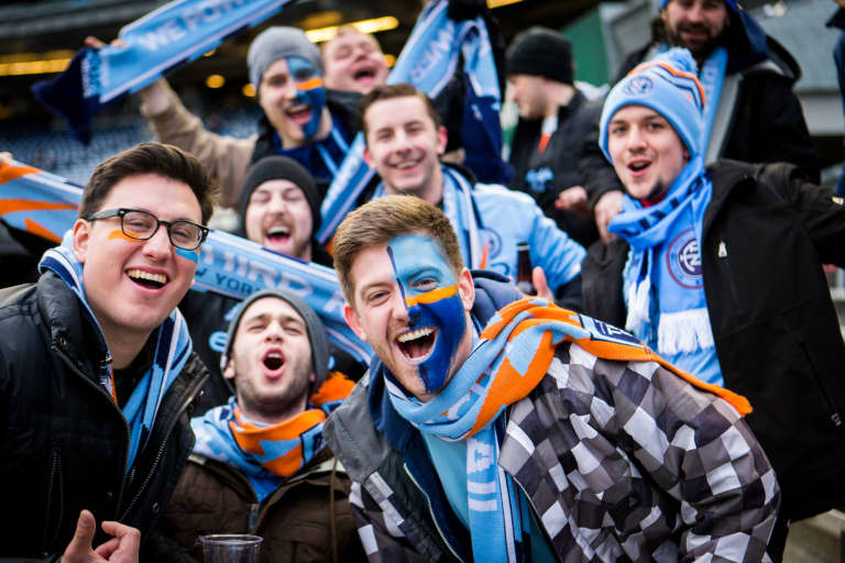 Blue face fans