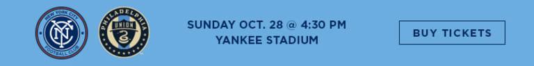 MLS Awards: Ten NYCFC Nominations - NYCFC vs Philadelphia