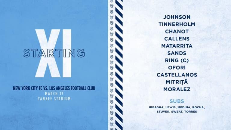 The XI | Matarrita Returns to the Line-up -