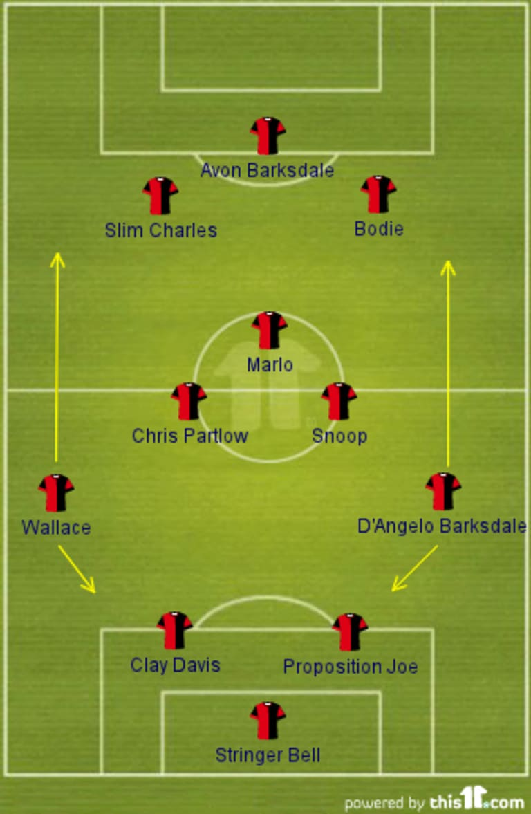 Two different Starting XI's for The Wire and NO OMAR? -