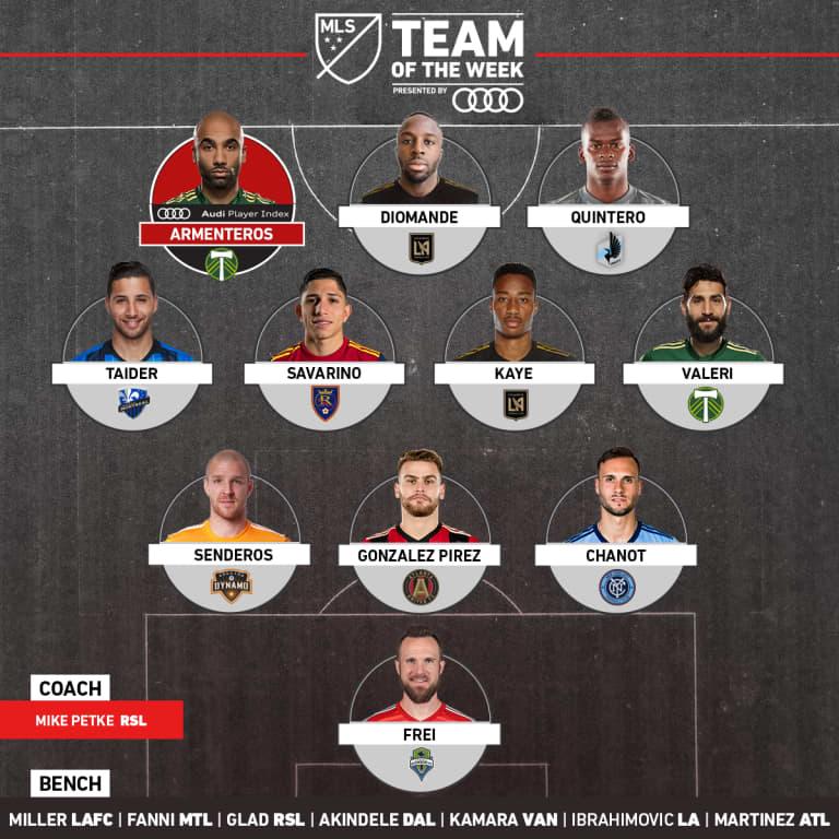 Samuel Armenteros, Diego Valeri named to MLS Team of the Week (Wk 19) - https://league-mp7static.mlsdigital.net/images/2018-1x1-Audi-TOTW-Week-19.jpg