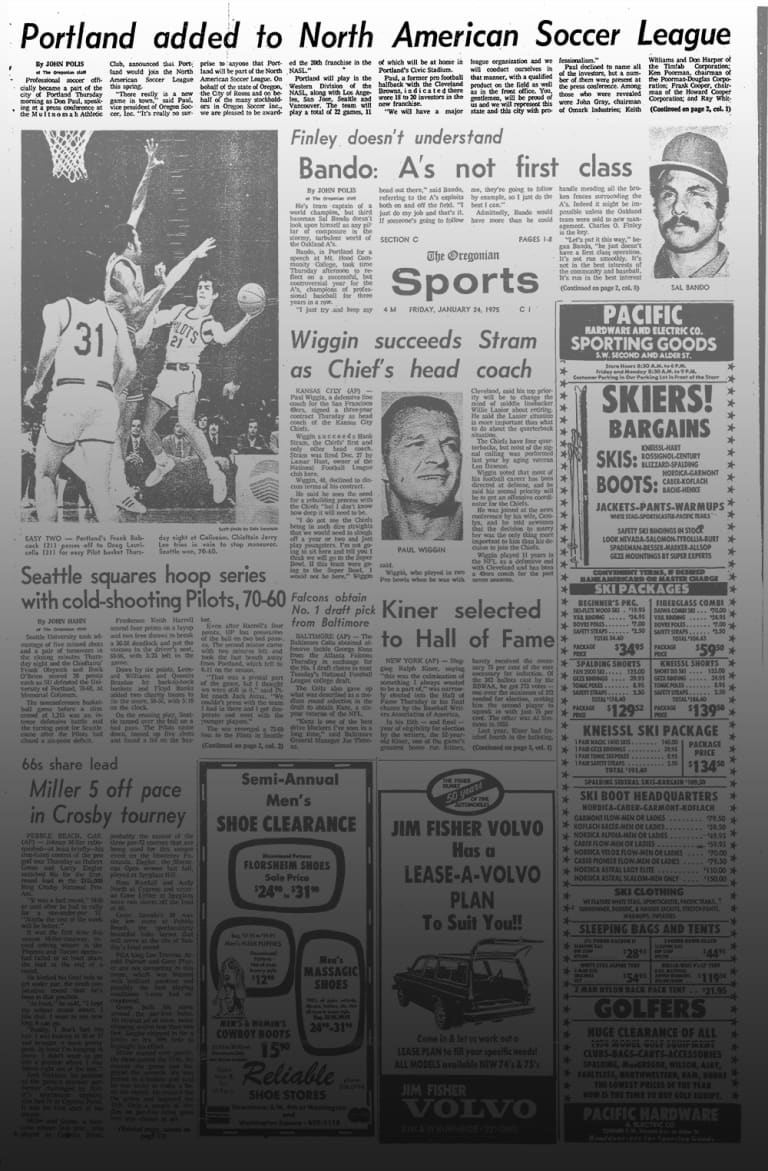 5/40 | Forty years ago today was the start of a new soccer team in Portland -