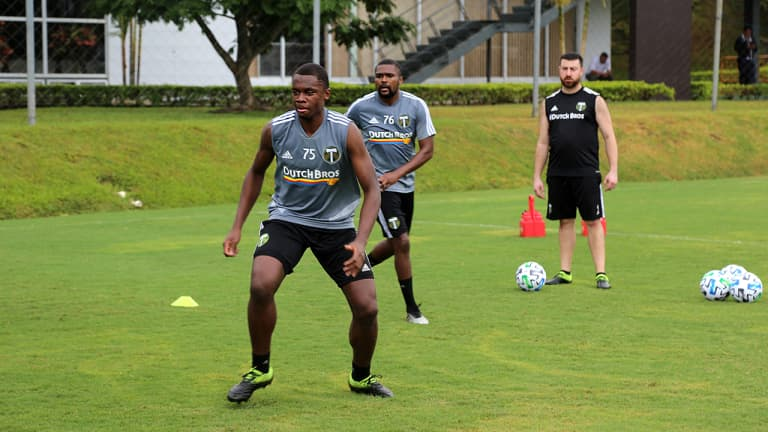 Trialists, Academy players and draft picks all vying for positions during preseason in Costa Rica -