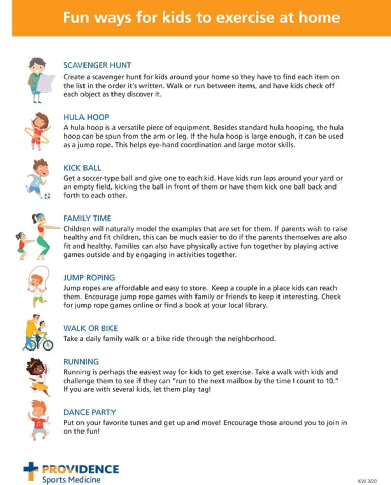 Providence Health Tips | Health & Fitness Tips For Kids, For Life -