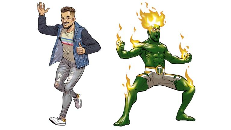 Dark Horse Comics presents: The ferocious strength and fiery energy of The Mighty Blanco (Sebastián Blanco) -